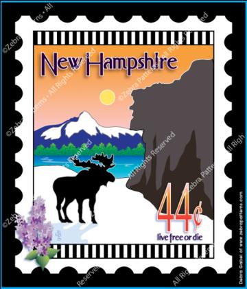 New Hampshire Stamp Panel