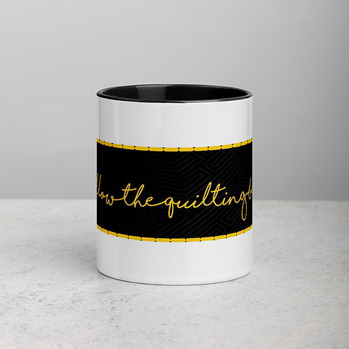 Follow the Quilting Bee Mug with Color Inside