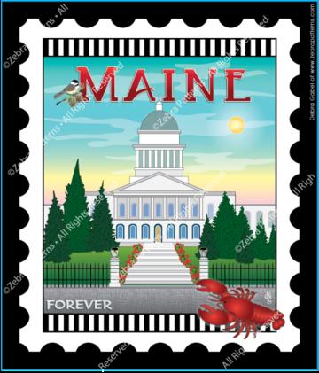 Maine Stamp Panel