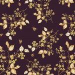 Aubergine Bee Blossom