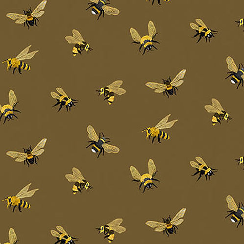 Allover Bees Brown