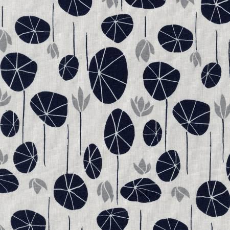 Silver Lilypad Cotton/Linen Blend