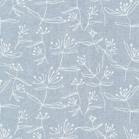 Chambray Floral Cotton/Linen Blend
