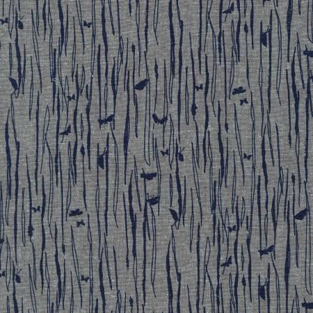 Shale Bark & Butteflies Cotton/Linen Blend