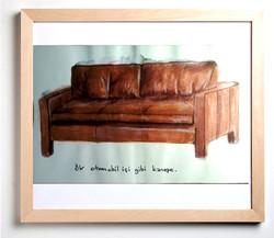 The sofa like an auto interior