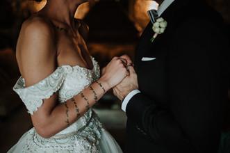 Foto romantica sposa