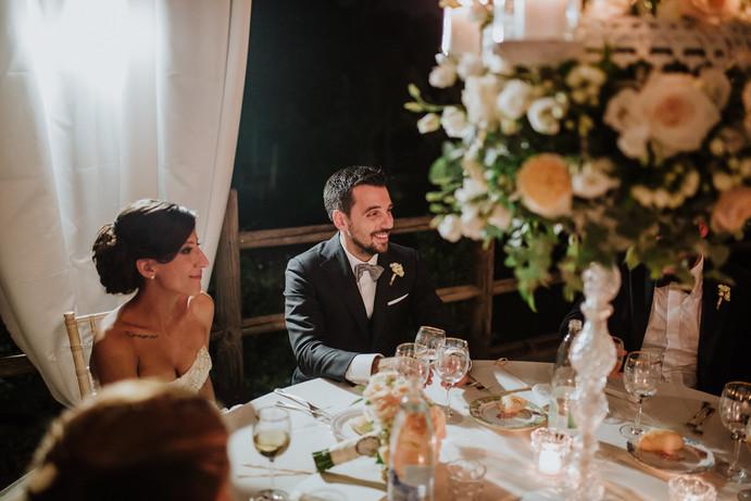 Centrotavola floreale matrimonio