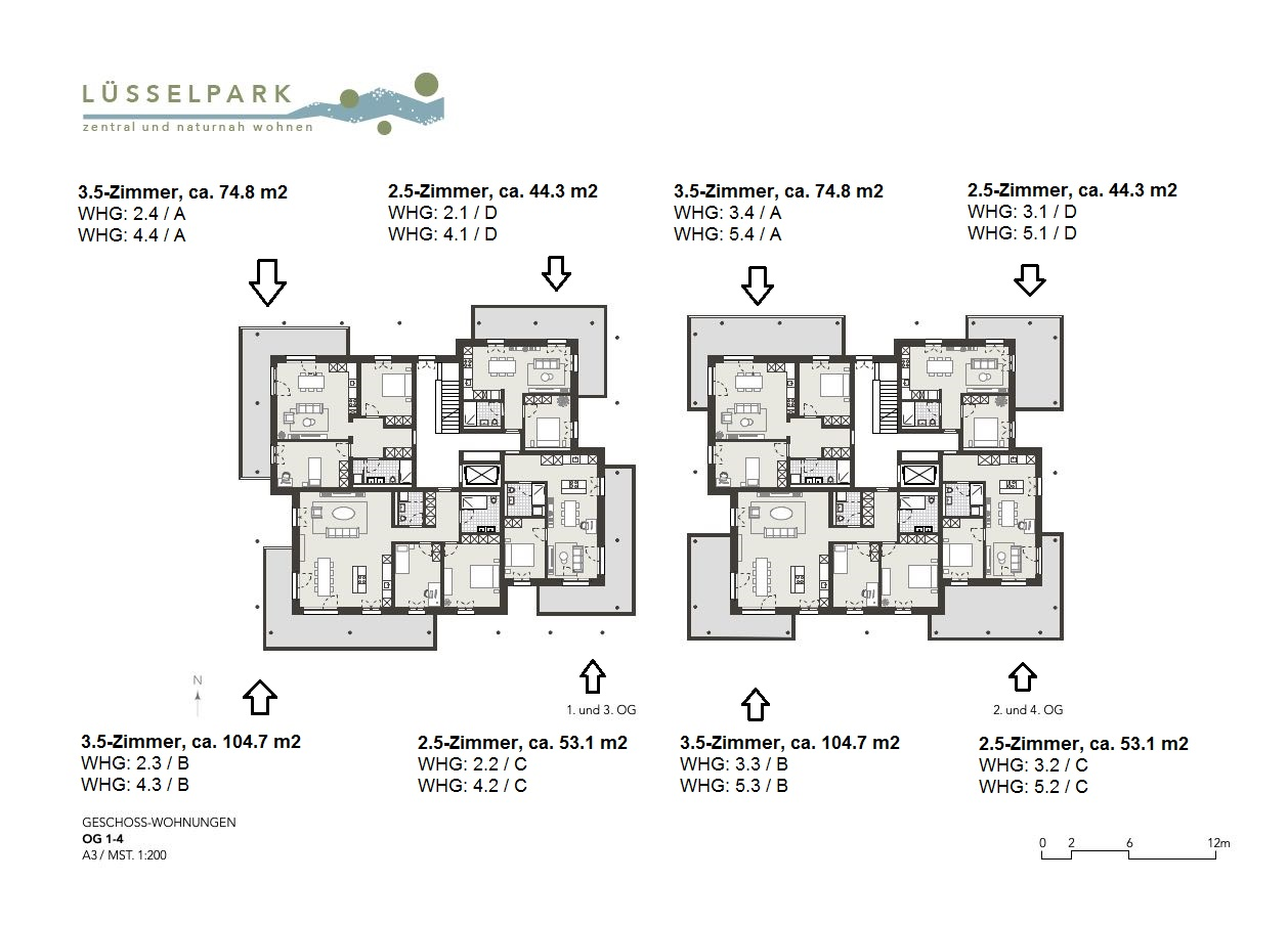Wohnungen 1.-4. OG