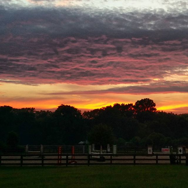 Summer Sunset at Gaitkeeper Farm!