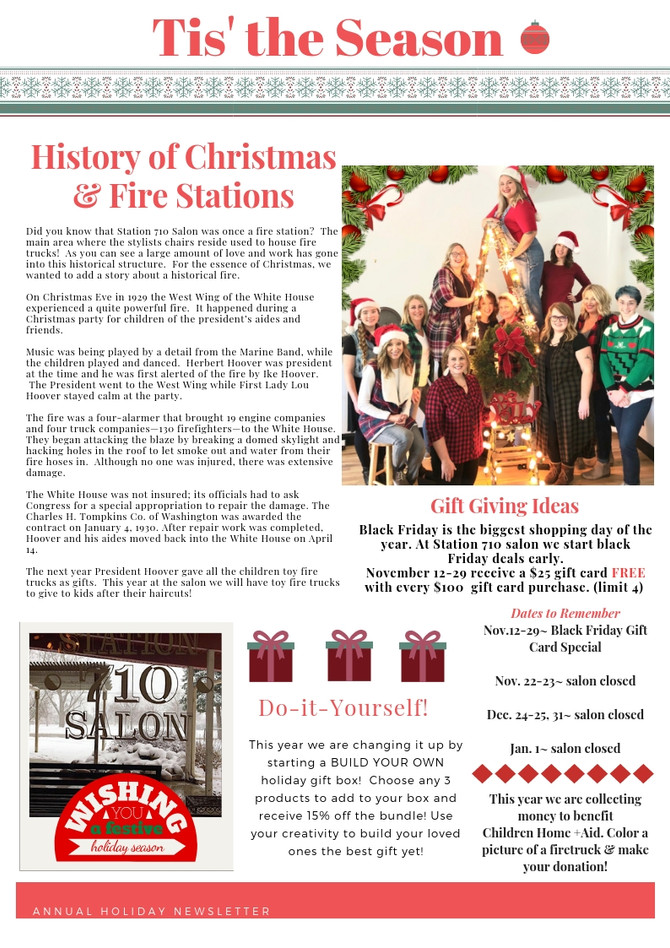 Holiday 2018 Newsletter