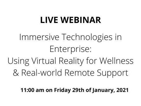 Webinar: Immersive Technologies in Enterprise