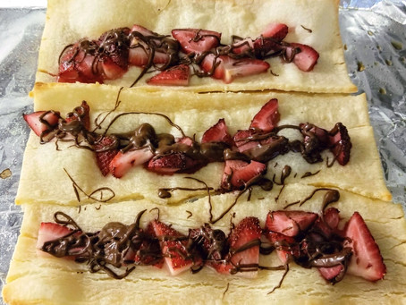 Gluten Free Puff Pastry with Strawberry and Chocolate!