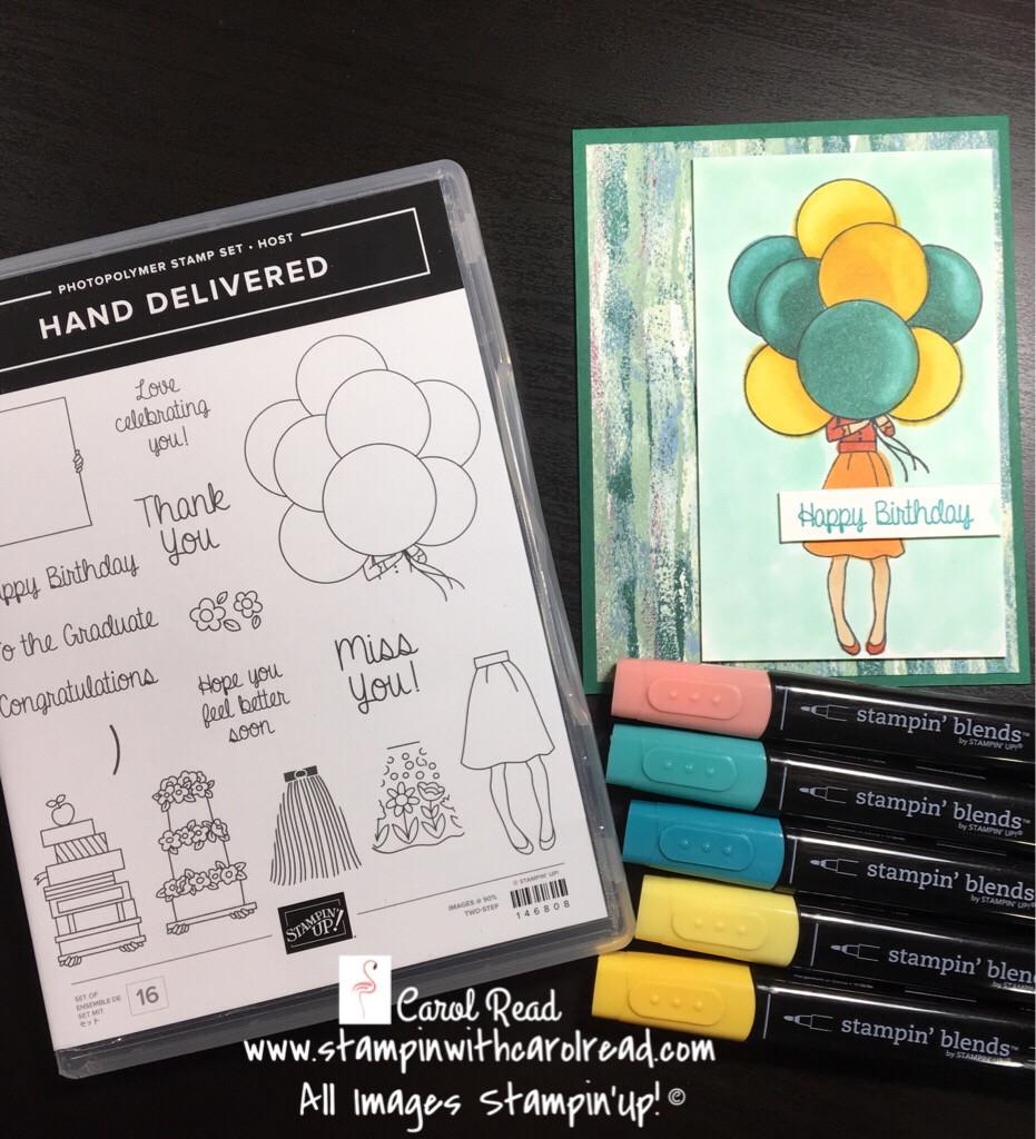 Hand Delivered stamp set