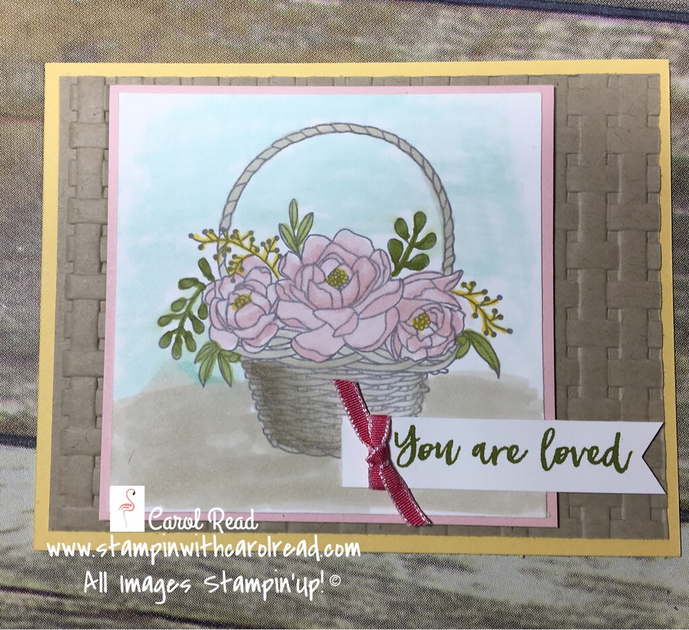 Blossoming Basket stamp set