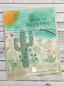 Flowering Desert stamp set stampin' up!