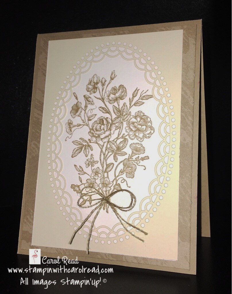 Very Vintage Lace card