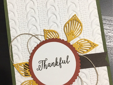 Fall Thankful Card