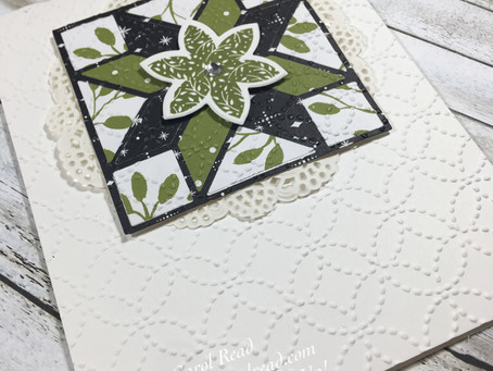 Christmas Quilt Card - Stampin' Up!