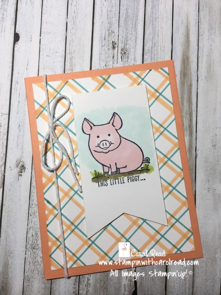 This Little Piggy card