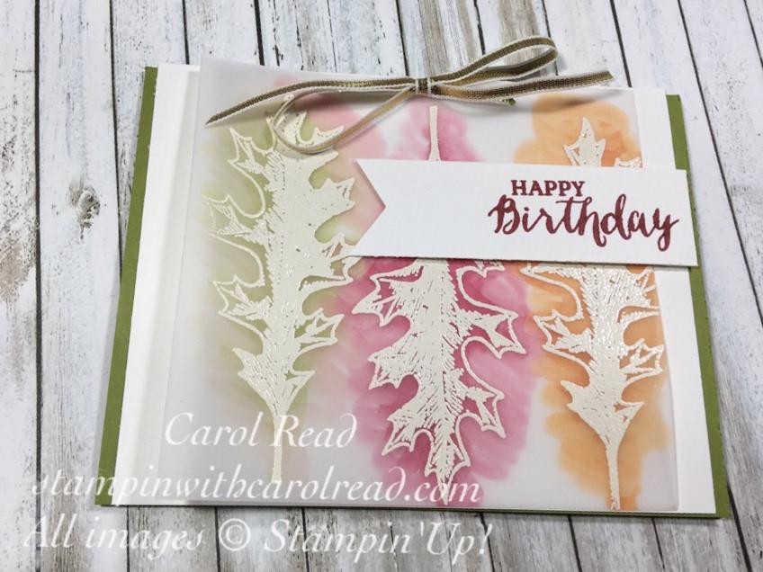 Soft Fall Birthday Card