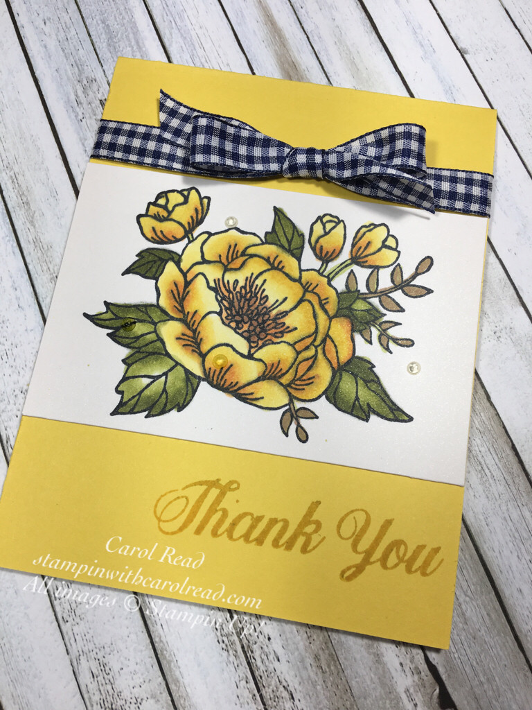 Thank You card with Birthday Blooms