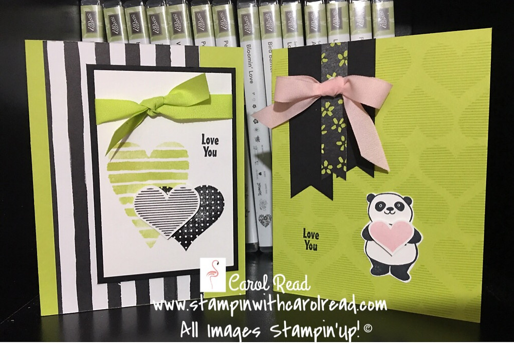 Heart Happiness and Party Pandas stamp sets