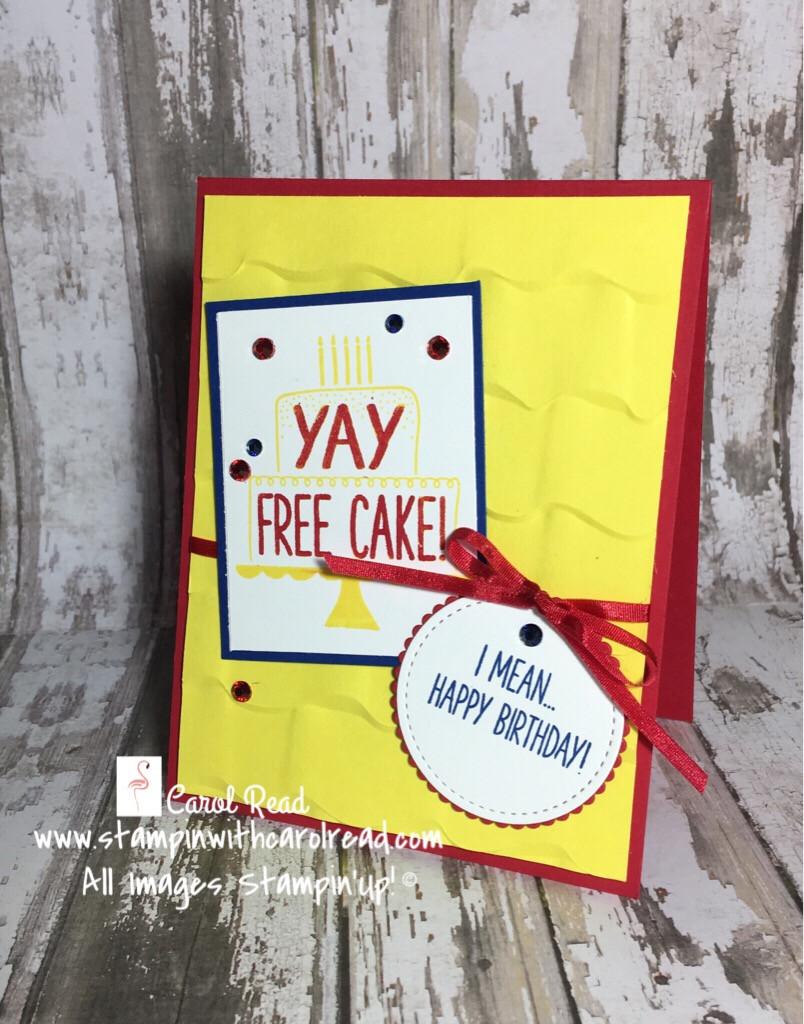 Free Cake stamp set