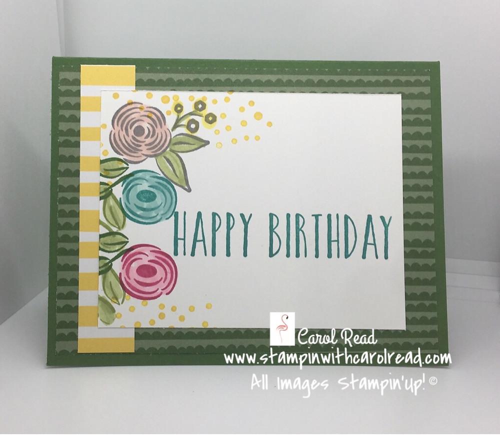 Perennial Birthday stamp set