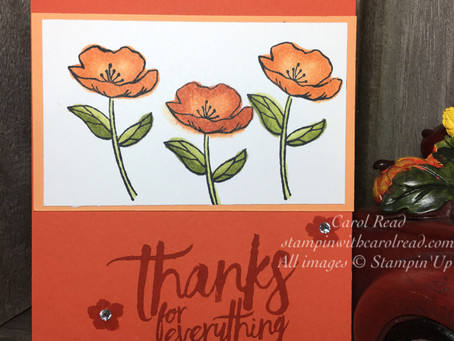 Stampin' Blends- Thank You card