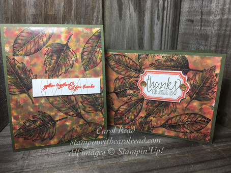 Polished Stone Technique - Fall Cards