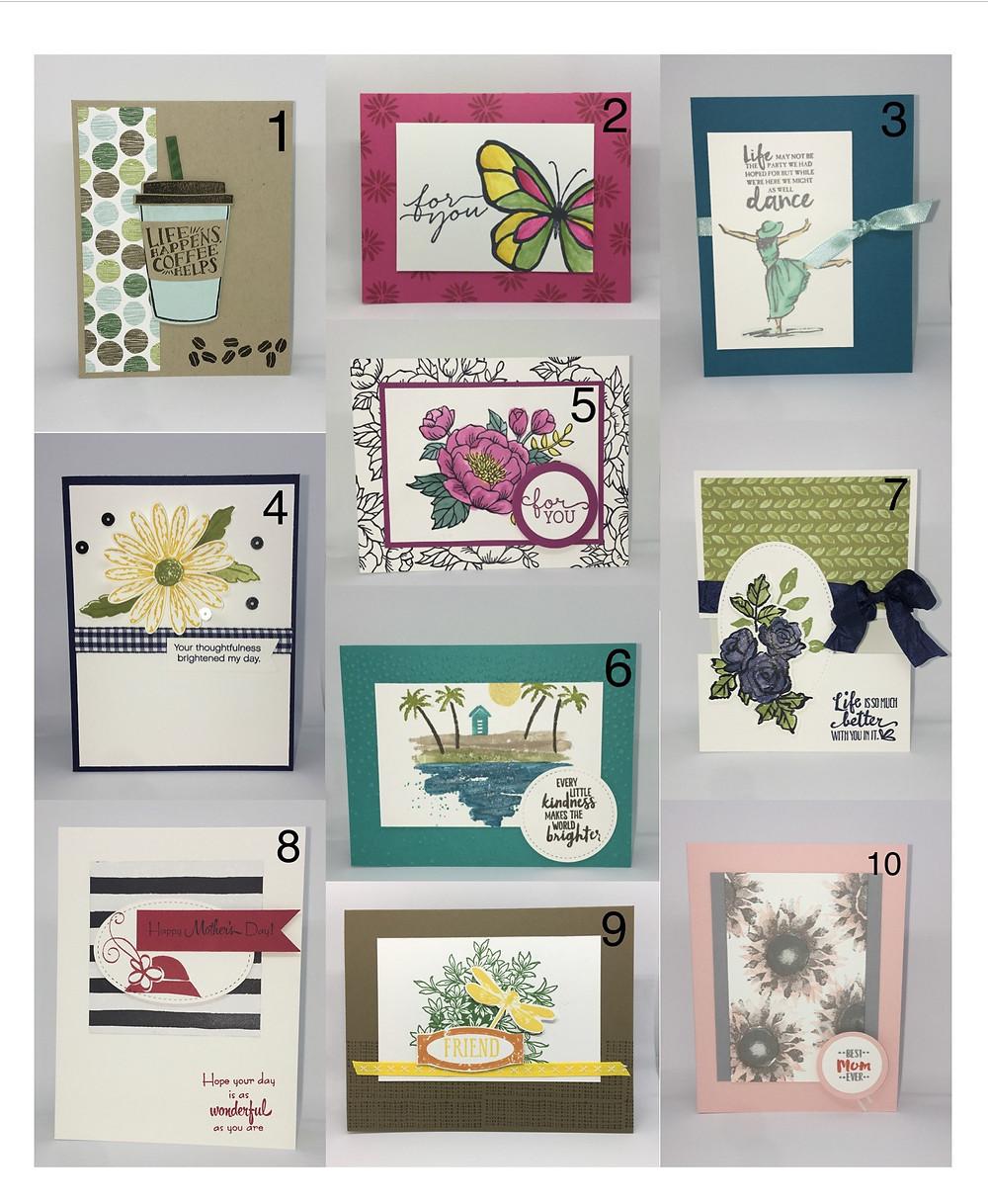 April Card Buffet Menu