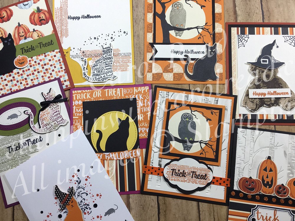 Spooky Cat Punch and Stamp set