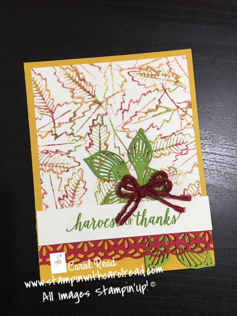 Falling For Leaves stamp set