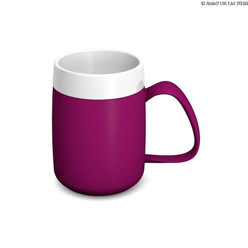 Ornamin One Handled Mug + internal cone - 200ml - Blackberry/White