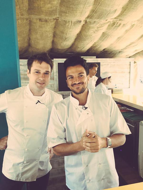 Peter Andre cooks with Chef Richard McGeown