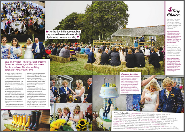 Couchs Catering Ltd featured in Wedmagazine.co.uk