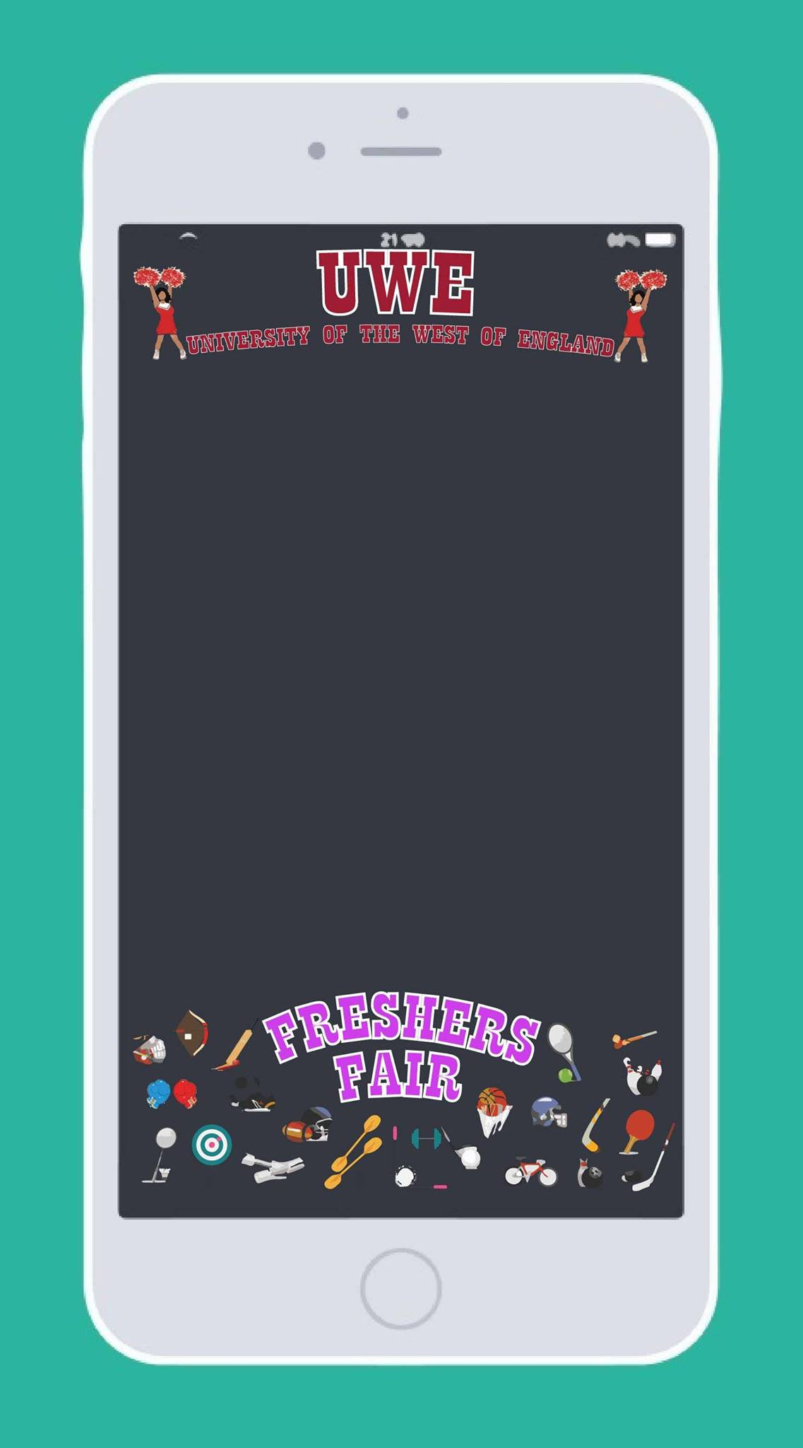 UWE Freshers fair 2016 Snapchat Event filter | designs