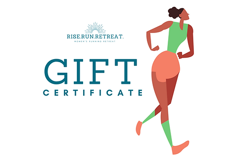 Virtual Running Retreat Gift Certificate
