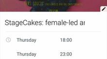 Stage Cakes - Female led art
