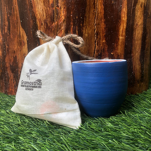 Blue You Terracotta Planter with 5 SowGrow Seedballs