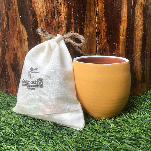 Peach Pap Terracotta Planter with 5 SowGrow Seedballs