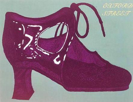 Shoe Illustration for Postcard drawing digitally coloured