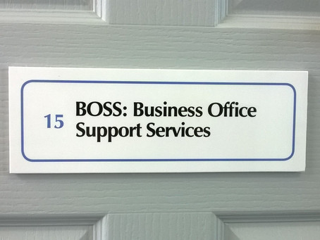 New signage for the BOSS IW office