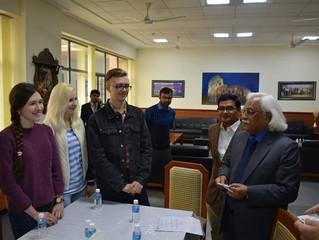 Организация и проведение встречи студентов РГГУ с руководством университета АМИТИ