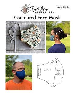 Contoured Face Mask PDF Sewing Pattern