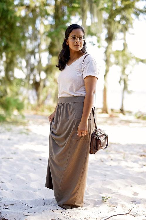 Organic Cotton or Hemp Emma Skirt Midi to Maxi