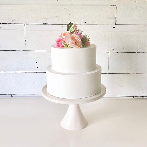 fake cake smooth finish two tiers by simply sweet shop