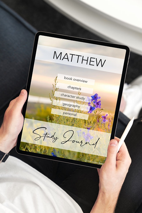 Matthew Study Journal PDF with hyperlinks