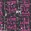 Black and Purple Abstract Art Gallery Fabrics- Tuner Tumble City- by the half yard