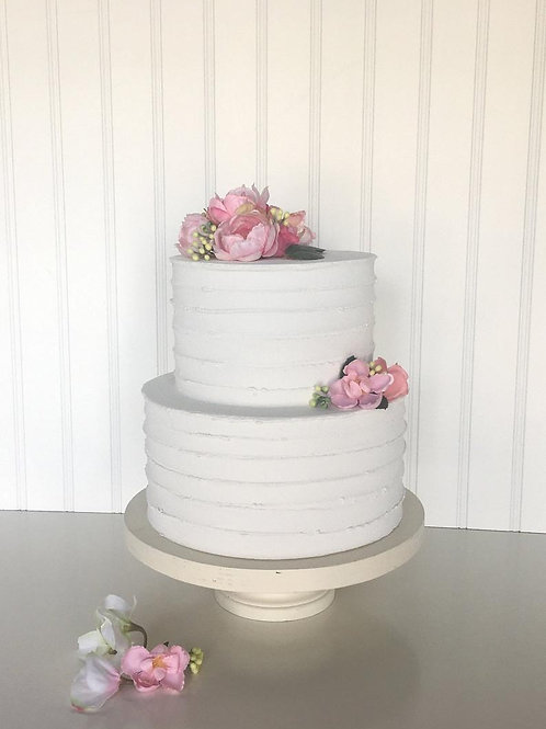 fake cake swirl finish two tiers by simply sweet shop